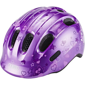 ABUS Smiley 2.0 Sykkelhjelmer Barn purple star